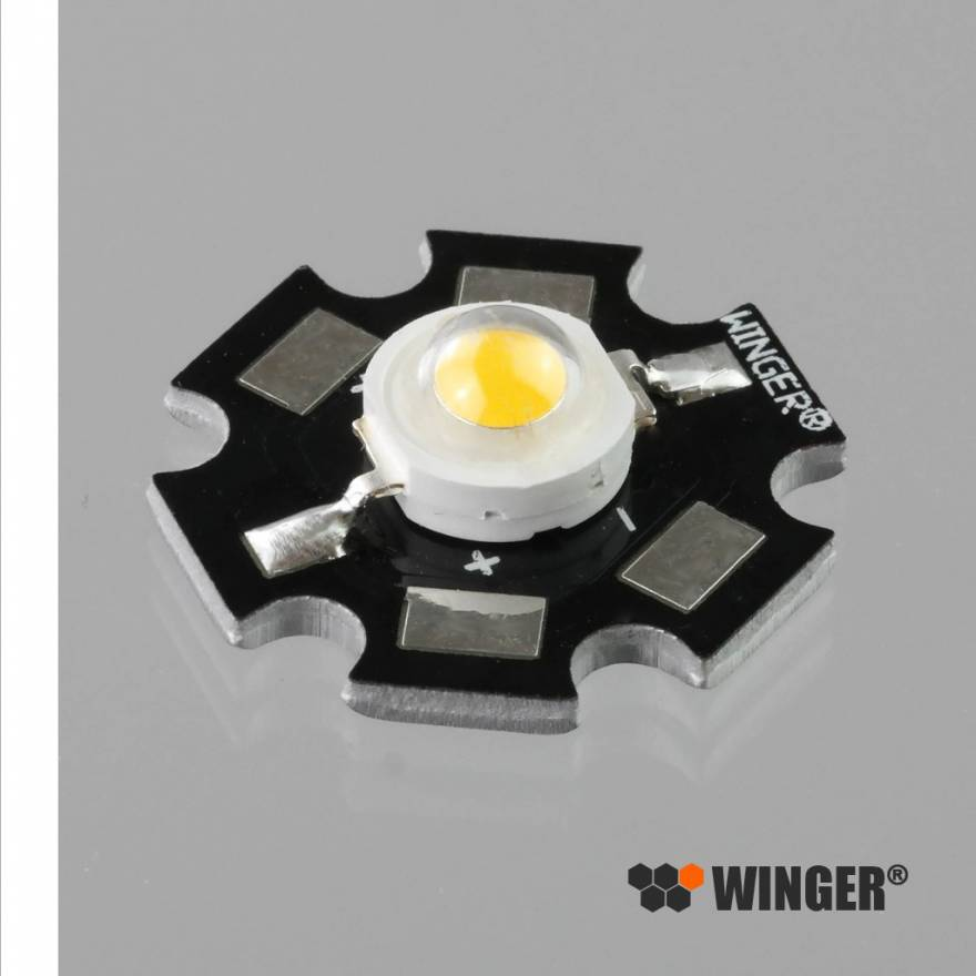 WINGER® WEPW1-S1 Power LED Star weiß (6.500K) 1W - 95 Lumen