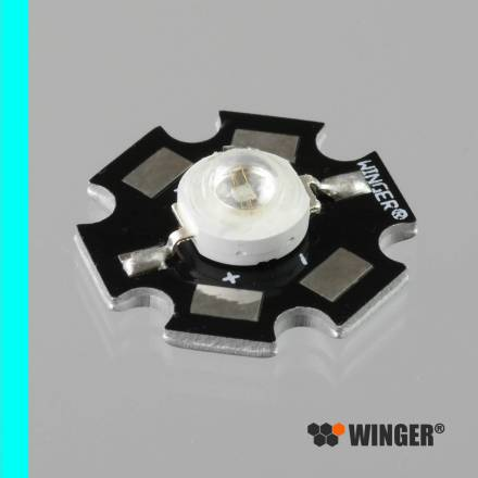 WINGER® WEPCN1-S1 Power LED Star cyan / türkis (505nm) 1W - 60lm