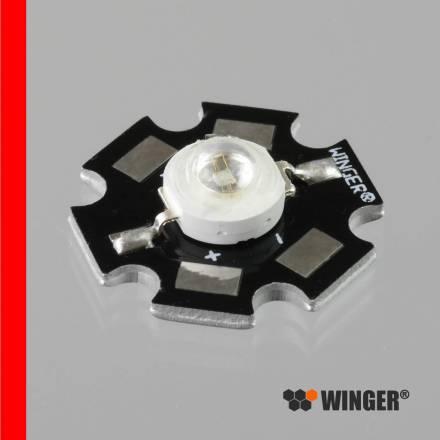 1W power led star blanc