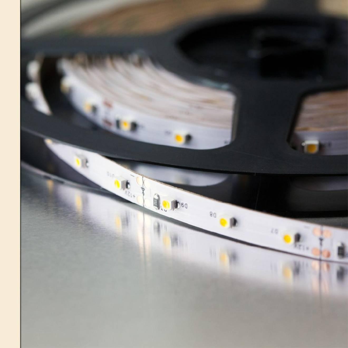 led strip 5m reel warm white low budget. Black Bedroom Furniture Sets. Home Design Ideas