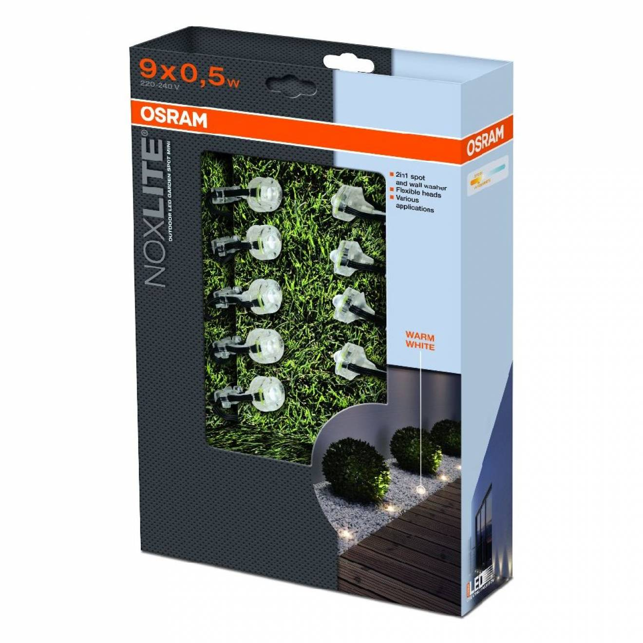 osram noxlite led garden spot mini starter set warm white. Black Bedroom Furniture Sets. Home Design Ideas